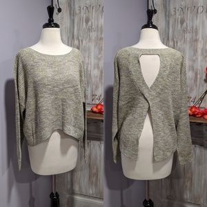 Express open-back sweater